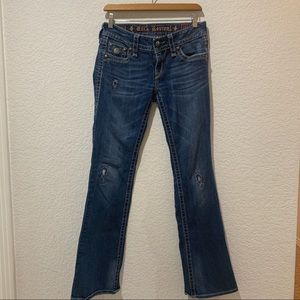 Rock Revival Boot Cut Janet Distressed Jeans 29x32